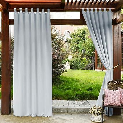 Amazon Com Pony Dance White Outdoor Curtains Front Porch Panels