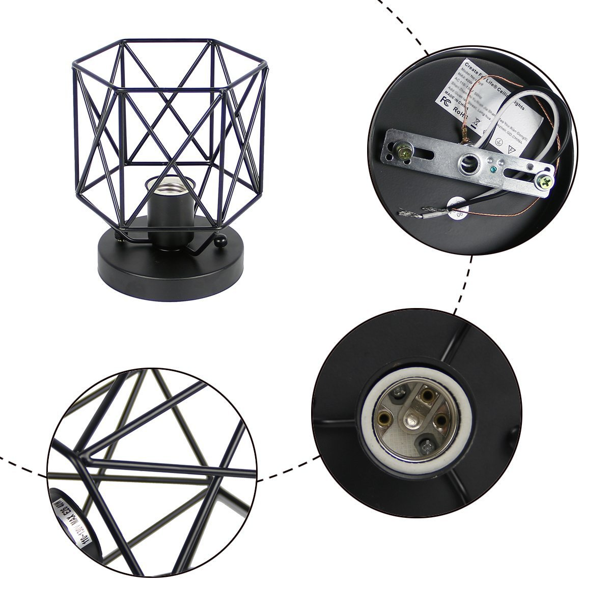Create for Life Retro Vintage Industrial Mini Painting Metal Rustic Flush Mount Ceiling Light Pendant Light for Hallway by Create for Life (Image #4)