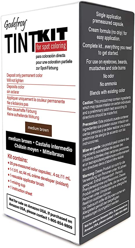 Godefroy - Kit de tinte para cejas y barba: Amazon.es: Salud y ...