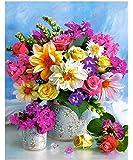 "Diamond Painting Kit, 5D DIY Diamond Needlework Flower for Home Room Decor (12""x16""/30x40cm)"