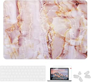 Utryit MacBook Pro 15 Case 2018 2017 2016 Release A1990/A1707 Shell, Hard Case Cover and Keyboard Cover for Apple MacBook Pro 15