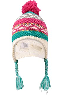 8b2949e0ffd Mountain Warehouse Owl Knitted Kids Hat - Easy Care   Fleece Lining ...