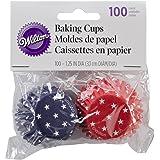 Wilton Baking Cups, Mini, 100/Pack, Patriotic