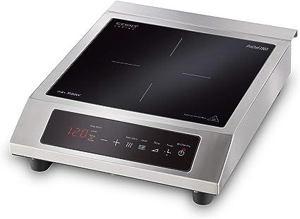CASO ProChef 3500 - Placa de inducción portátil (3500 W, 60-240 °C, modo de mantenimiento del calor, temporizador de 24 h, ollas de hasta 26 cm, ...