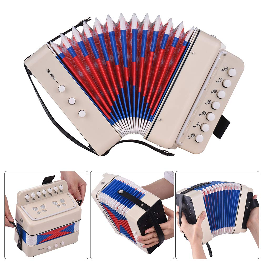 Kalaok Mini 10-Button Kids Accordion Toy Supports Bass Chords 14 Notes with Cleaning Cloth Educational Music Instrument for Children by Kalaok (Image #4)