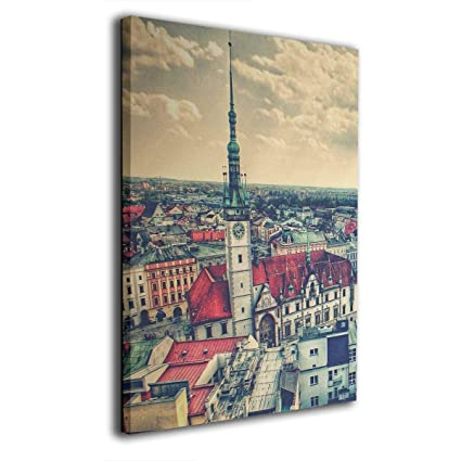 Home art wall decor Prague square Oil painting Picture Printed on canvas