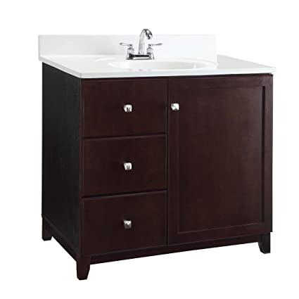 Design House 545061 Wyndham White Semi Gloss Vanity Cabinet With 1