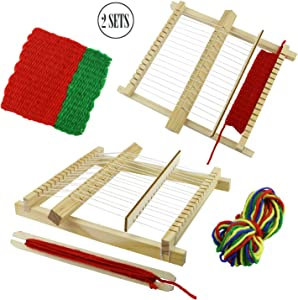 BcPowr Craft Loop 'N Loom Potholder Loom Kit Large Hardwood Lap Loom