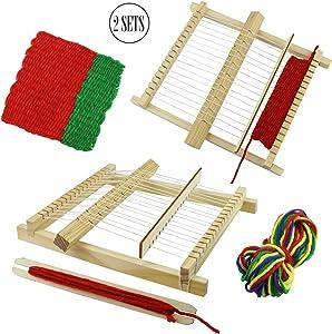 BcPowr Craft Loop 'N Loom Potholder Loom Kit Large Hardwood Lap Loom