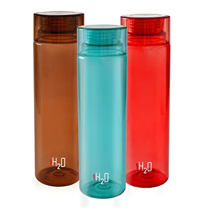 BPA-Free and Leak-Proof Pack of 2 Cello H2O 1 Litre Unbreakable Water Bottle