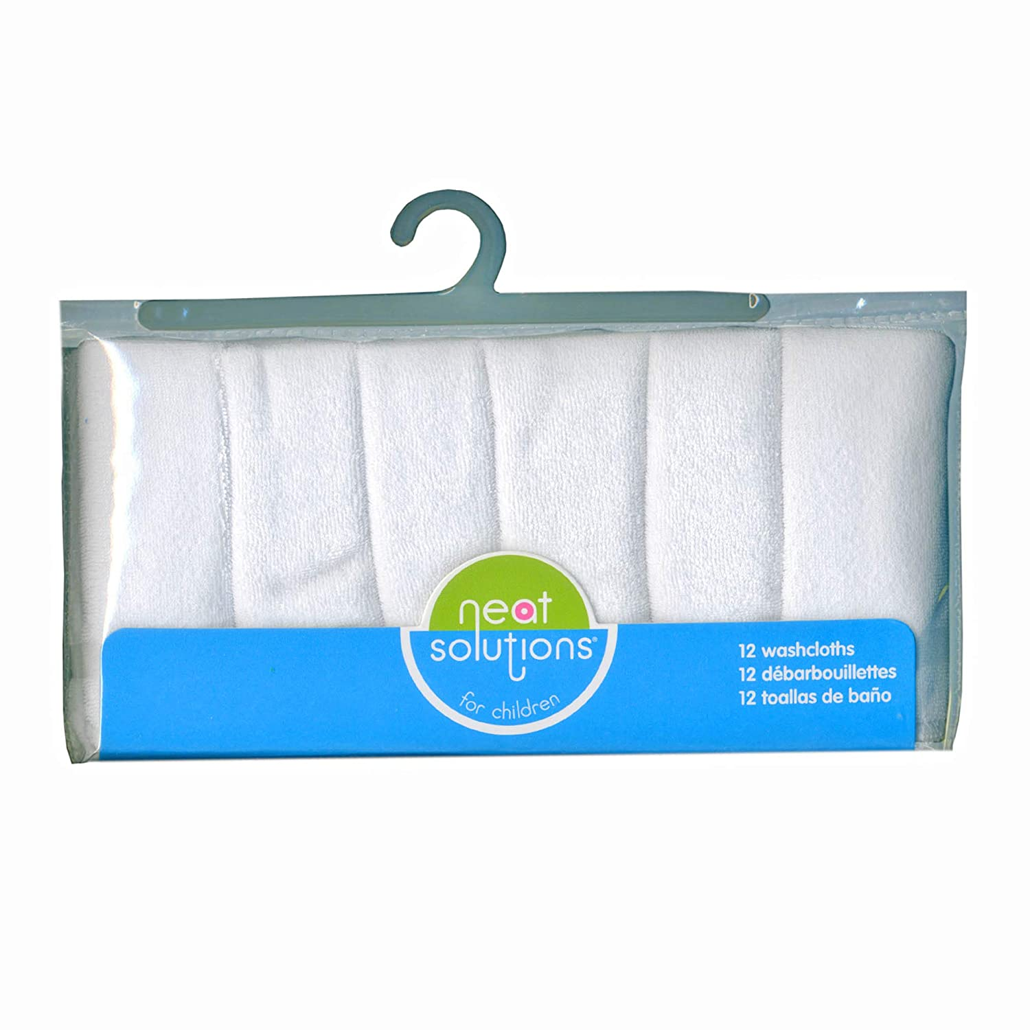 Amazon.com: Neat Solutions Solid Knit Terry Washcloth Set, White, 12-Count: Baby