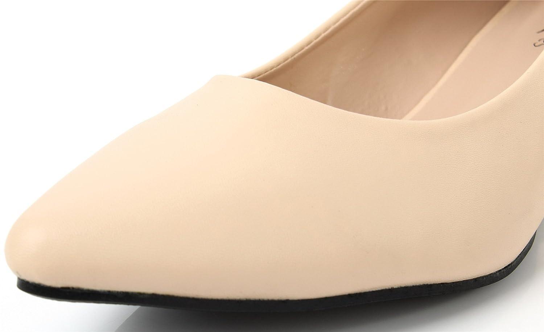 AgeeMi Shoes Femmes Escarpins Compensé Talon Slip on Solide Chaussures EuD22