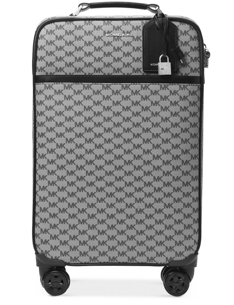 NEW AUTHENTIC MICHAEL KORS TROLLEY TRAVEL SUITCASE LUGGAGE (Black Signature)