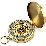 Natuce Compas De Poche Portables Compacte De Style Classique Brass Metal Camping RandonnéE Compagne Outils De Navigation ExtéRieure - Or