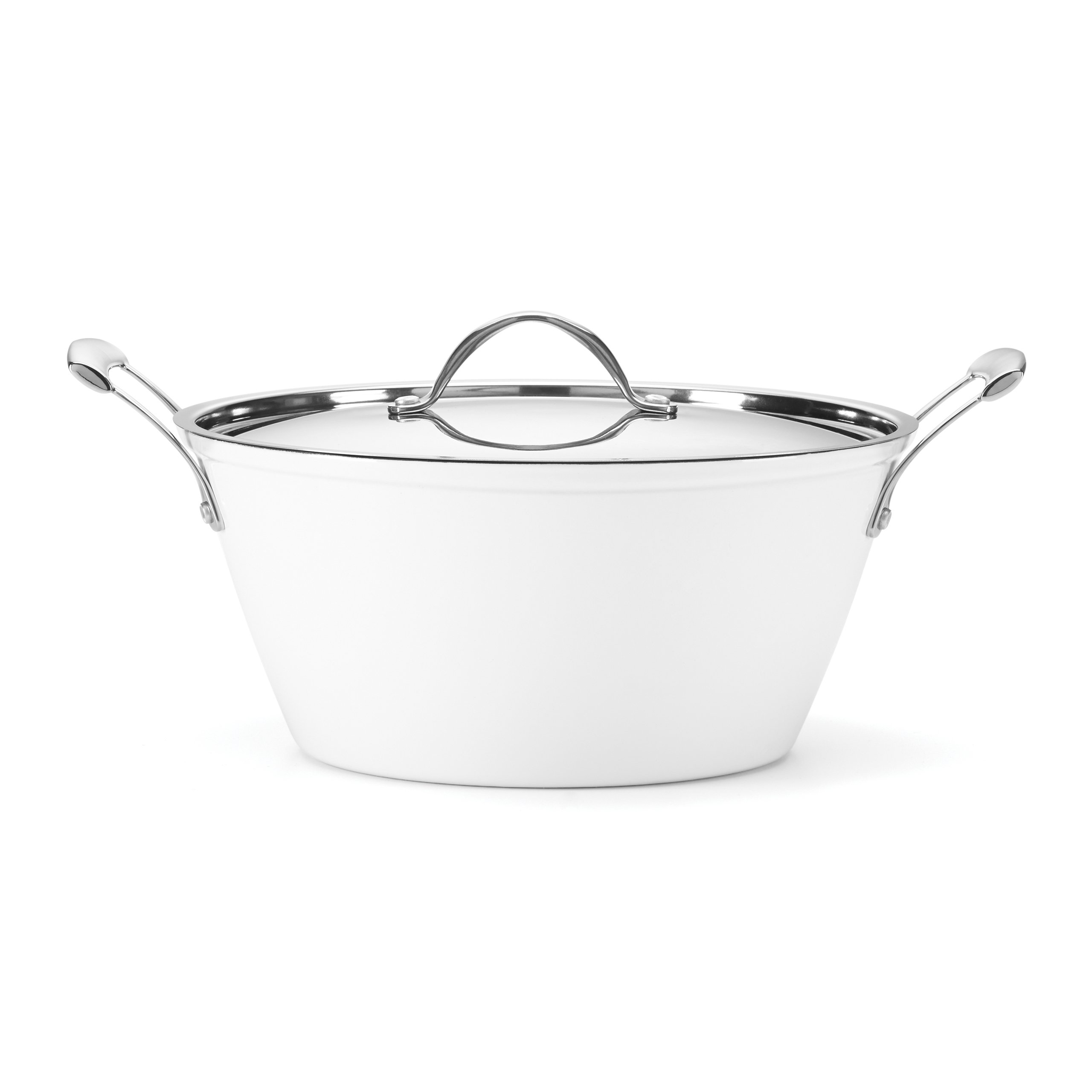 Food & Wine For Gorham Light Cast Iron 6 Quart Casserole, White by Food & Wine Collection for Gorham (Image #1)