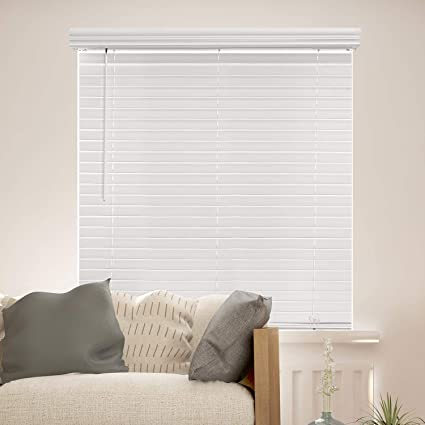 Amazon Com Chicology Cordless 2 In Faux Wood Blinds 52 W X 72 H