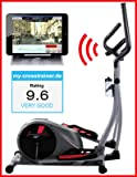 Sportstech CX610 professional crosstrainer with Smartphone App control + Google Street View, 18 KG inertia, HRC - Bluetooth - 32 resistance levels - hometrainer ergometer elliptical stepper