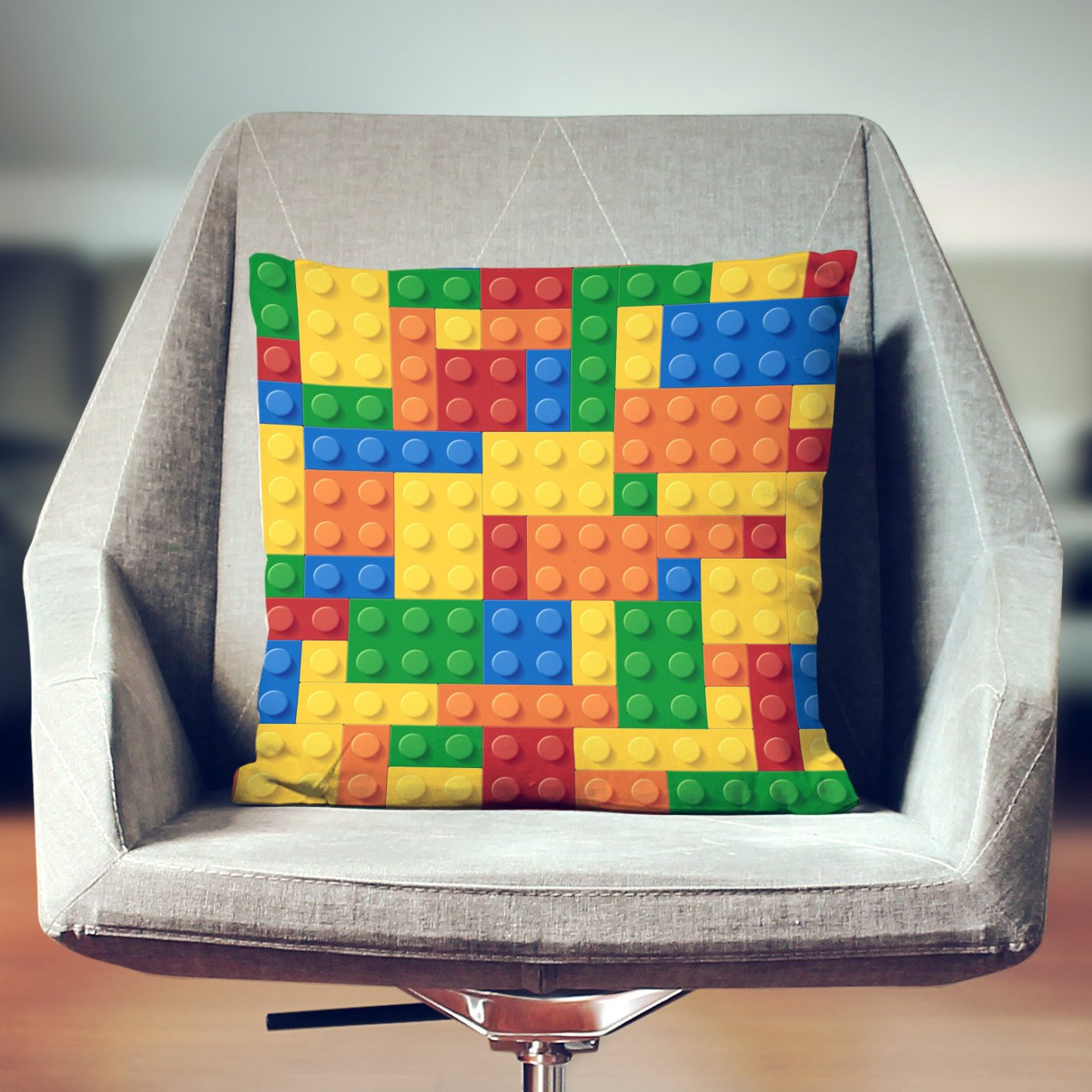 Lego Pillow Cover Throw Pillow Kids Case Decorative Building Blocks Cushion Home Decor Sofa Couch Lounge Bedding Toss Decoration
