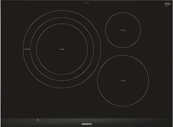 Siemens EH775LDC1E hobs Negro Integrado Con - Placa (Negro, Integrado, Con placa de inducción, 1400 W, 14,5 cm, 2200 W)