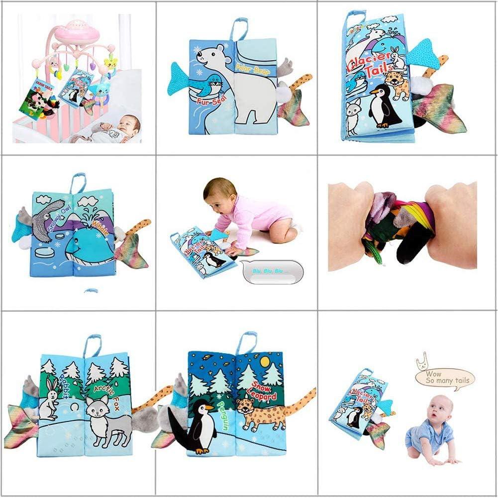 Libros Blandos para Beb/é Animales Libros de Tela Juguetes Aprendizaje y Educativo para Beb/é BESTZY Libro de Tela para Beb/és