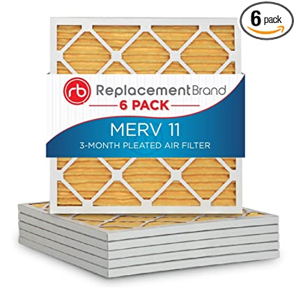 f50095045c3 ReplacementBrand 12 x 12 x 1 MERV 11 Air filter   Furnace Filter (Pack of  6) - - Amazon.com