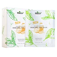 Heivy Collagen Boosting New Oolong Tea Mask, Long-lasting Hydration Facial Mask, Collagen Sheet Mask That Boost Your Skin Elasticity (10 Sheets)