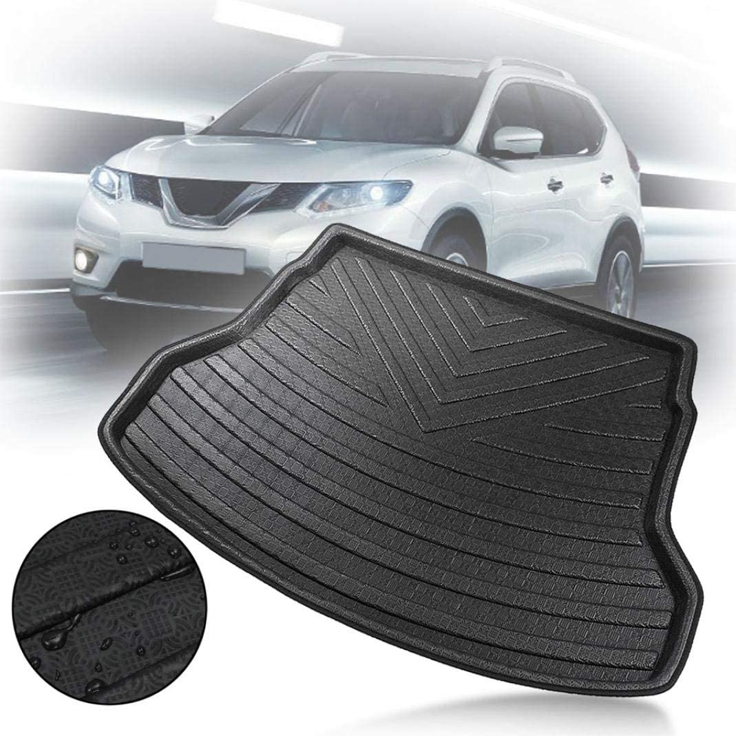 Black Grebest Rear Trunk Cargo Boot Mat Interior Decoration Carpet Waterproof Rear Trunk Cargo Boot Liner Mat Carpet for Nissan X-Trail 2014-2018