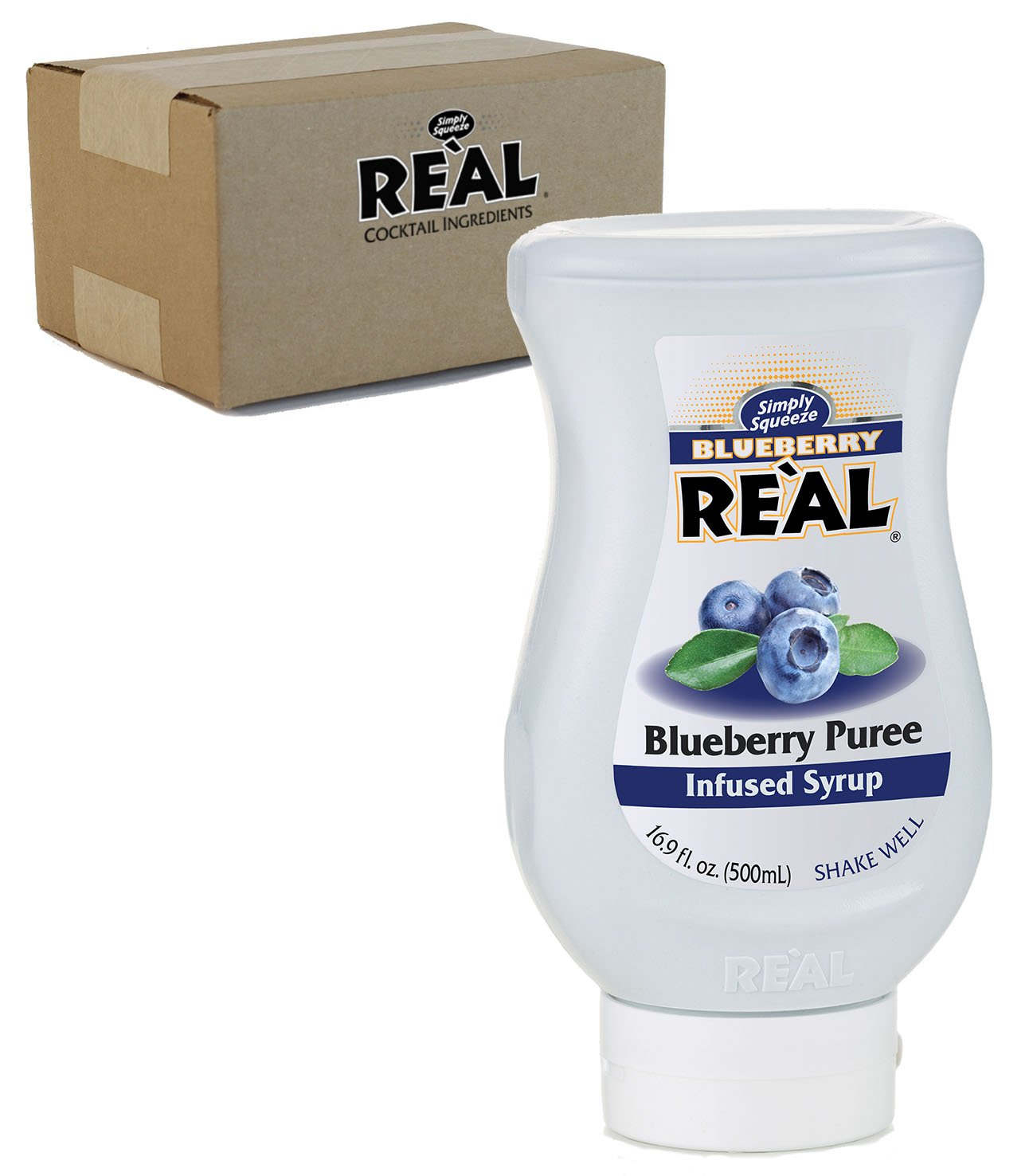 Blueberry Reàl, Blueberry Puree Infused Syrup, 16.9 FL OZ Squeezable Bottle (Pack of 1)