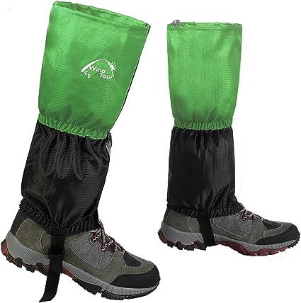 Waterproof Leg Gaiters Hiking Legging Outdoor Snow Climbing Walking Pair Cover