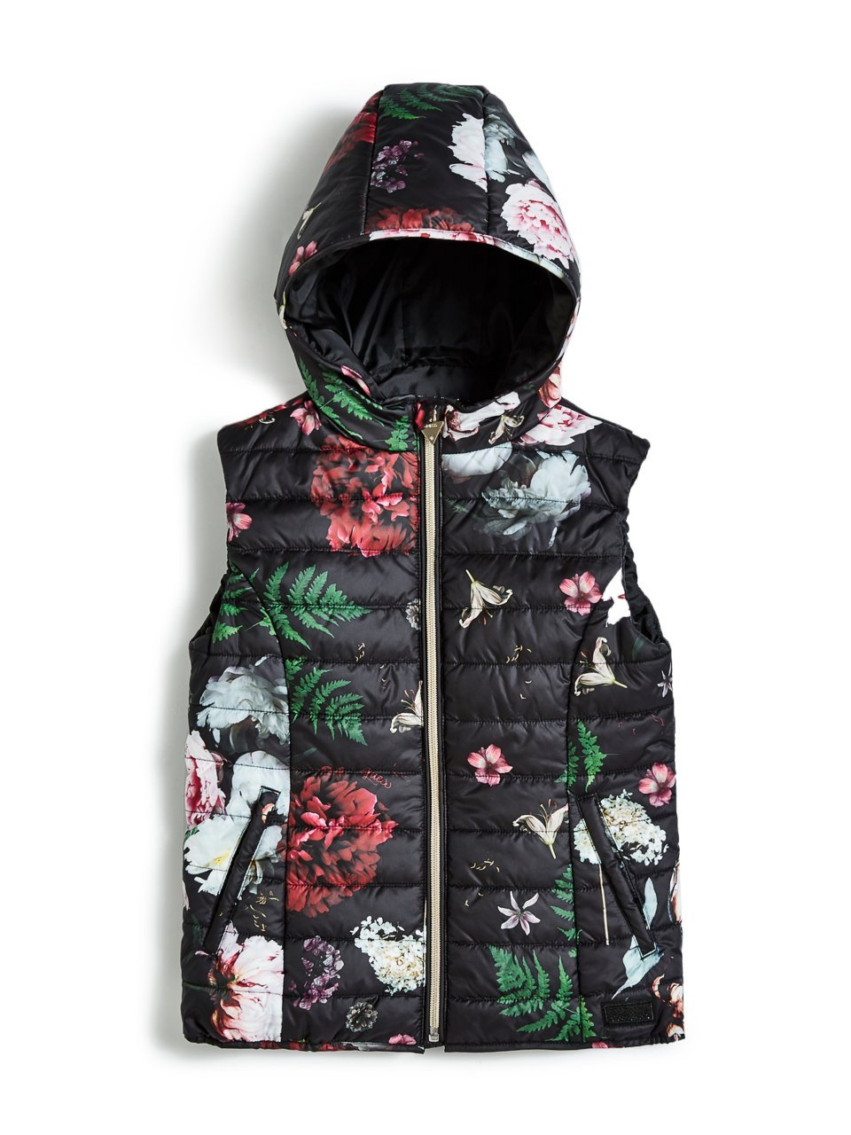 GUESS Floral Padded Vest (7-16)