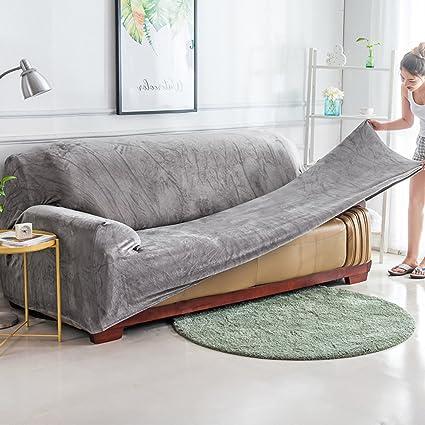 Amazon Com Yq Whjb Anti Slip Elastic Slipcover Plush Solid Color