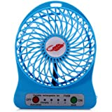 Powerpak 4-Inch Rechargeable Battery USB Mini Fan (Color May Vary)