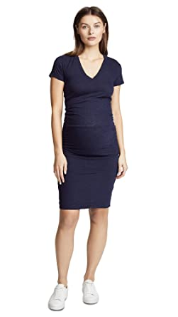 ca0f19a5d7e69 Amazon.com: Monrow Women's Maternity Shirred Tee Dress: Clothing