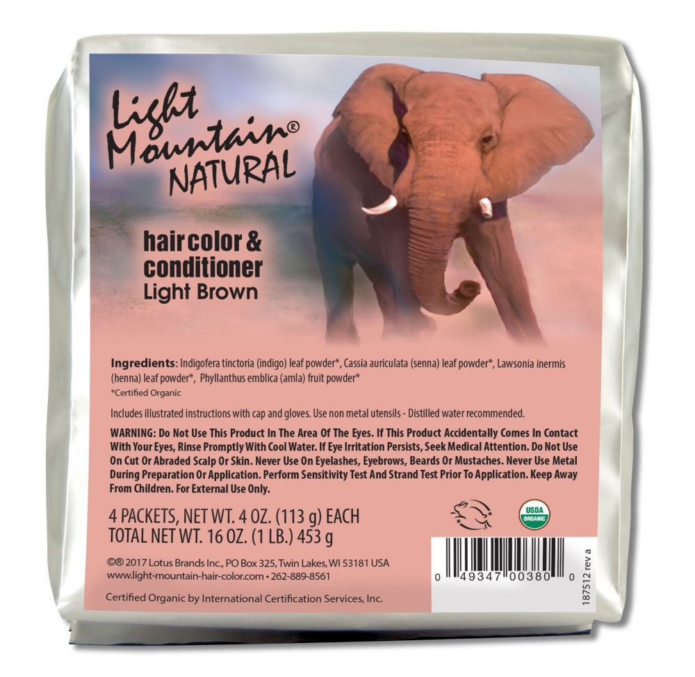 Light Mountain Natural Bulk Hair Color and Conditioner, Mahogany, 16 Ounce Lotus Brands Inc.
