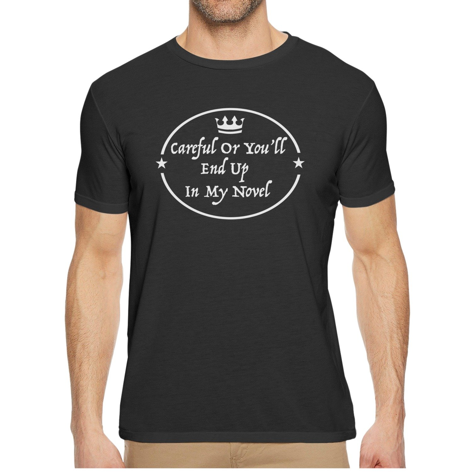 Qqppgg In My Novel Mens Short Sleeve Funny T-shirts