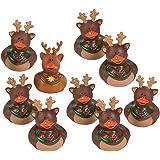 Fun Express Reindeer Rubber Duckies Christmas Duck Party Favors Set (Set of 9)