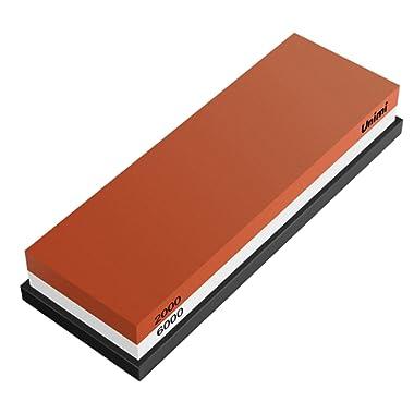 Whetstone Knife Sharpener, Unimi Professional Sharpening Stone Water Stone For Knives (2000/6000 Grit)