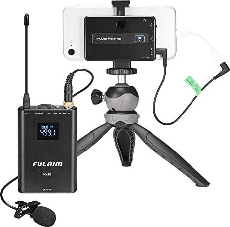 FULAIM MX10 Sistema de Micrófono Lavalier Inalámbrico ...