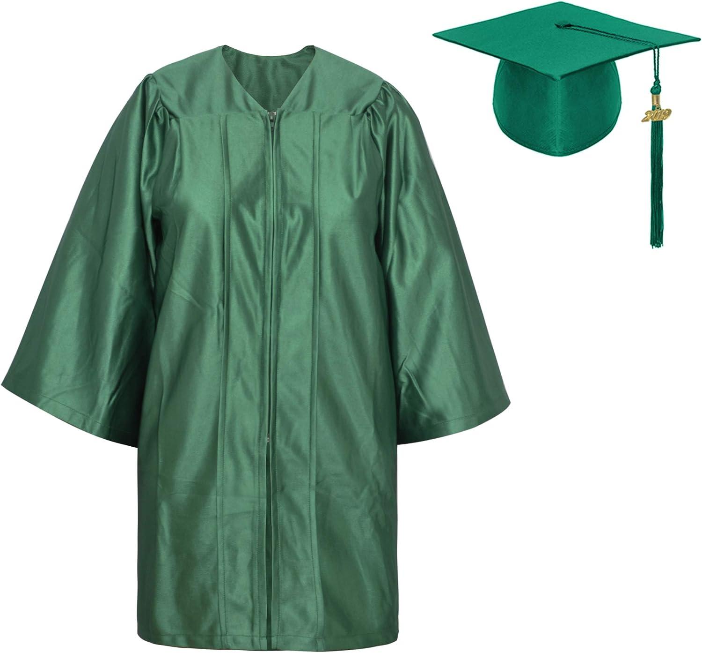 TOPTIE Unisex Kindergarten Kids Graduation Set Gown Cap Tassel 2020