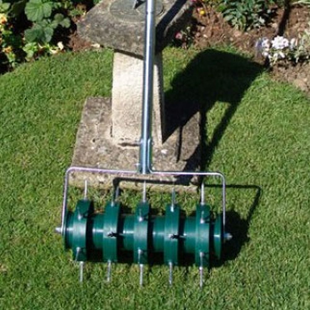 Greenkey 30cm Rolling Lawn Aerator Amazoncouk Garden Outdoors