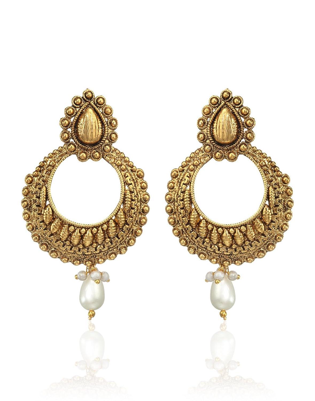 Buy Zaveri Pearls Charming Chandbali Earring For Women - ZPFK3663 ...