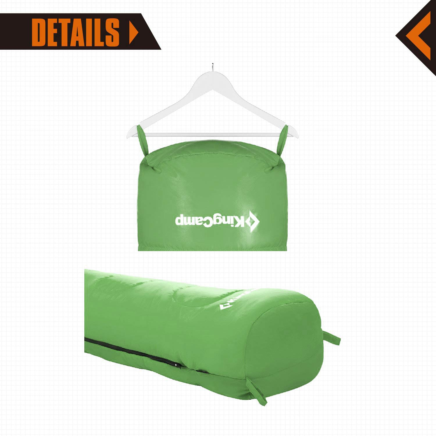 KingCamp Mummy Sleeping Bag 8.6 Degree F 300g//m2 Warm Loft Filling Cold Weather Ultra Compact for Camping Backpacking 4 Season Ultralight Men and Women Adult Lightweight with Compression Sack