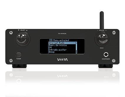 Vieta VH-HA042BK - Amplificador digital con Internet Radio, color negro
