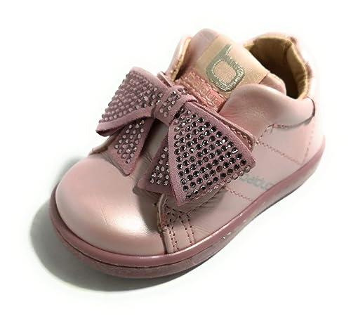 BALDUCCI CITA1907 Rosa Scarpe Bambina Sneakers Chiusura a Strappo Fiocco  Baby (19 EU) a05de46fd05