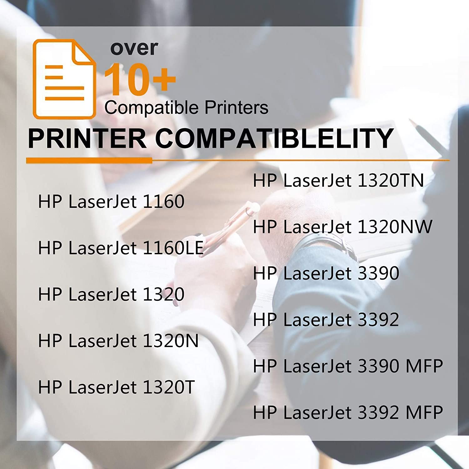 GREENCYCLE 3PK Compatible for HP 49X Q5949X Laserjet Toner Cartridge Replacement for 1320 1320TN 3390 3392 Printer