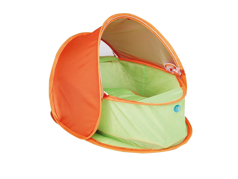 dBb-Remond - 650007 - Cesta porta enfant Pop Up con tettuccio Anti - UV e materasso - Arancione/Verde