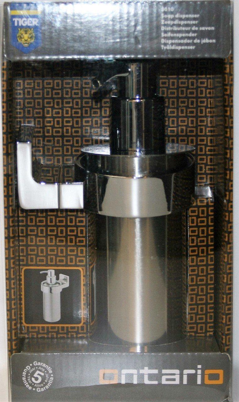 Tiger Ontario Dispensador de Jabón, Montaje en Pared, 7 x 10.2 x 19 cm, Metal, Cromo: Amazon.es: Hogar