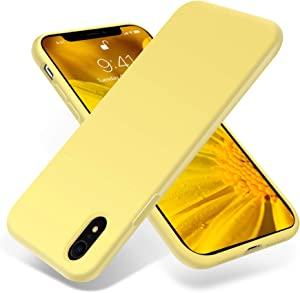 OTOFLY Compatible with iPhone XR Case,Shockproof Silicone iPhone XR Cases Cover for iPhone XR 6.1 Inch -Yellow