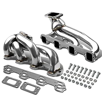 Ford Mustang Stainless Steel T3 Turbo Manifold Top Mount - 5.0L V8 OHV Twin Turbo