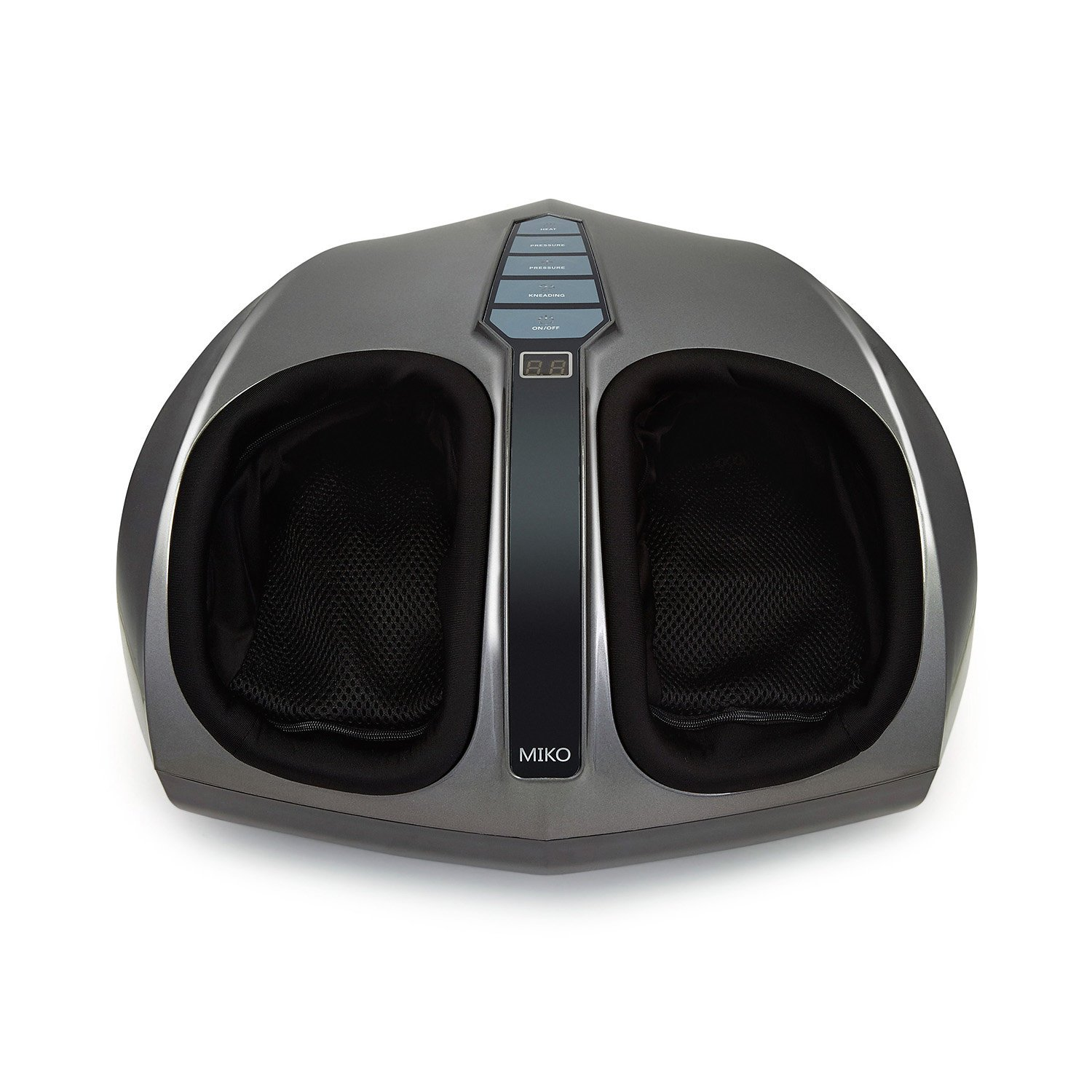 Miko Shiatsu Home Foot Massager Machine With Switchable Heat Charcoal Grey
